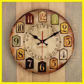 【新年鉅惠】14寸歐式復古鐘錶掛鐘客廳家用臥室簡約時鐘圓形創意靜音掛錶掛件
