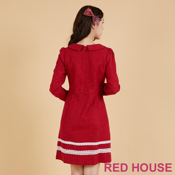 RED HOUSE-蕾赫斯-復古翻領毛料洋裝(共2色)