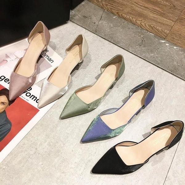 高跟鞋 夏季小清新百搭法式小跟鞋尖頭細跟高跟單鞋女鞋子 Ballet朵朵