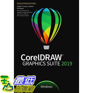 [8美國直購] CorelDraw 暢銷軟體 Graphics Suite 2019 Education Edition for Windows B07QD34RZZ