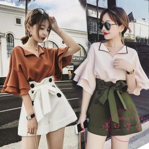 兩件套裝 夏裝新品大尺碼女裝胖mm顯瘦短褲兩件式裝時尚梨形身材穿搭【快速出貨】