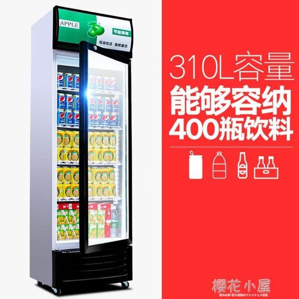 睿美展示櫃冷藏櫃立式商用雙門冰櫃冰箱啤酒超市水果保鮮櫃飲料櫃igo『櫻花小屋』