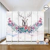 屏風 歐式屏風隔斷客廳裝飾牆現代簡約行動摺疊臥室雙面布藝房間小戶型T