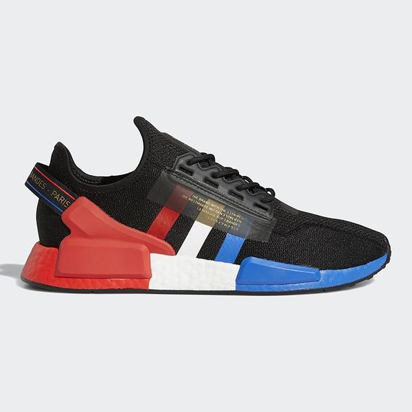ADIDAS NMD_R1 V2 PARIS 男鞋 慢跑 休閒 BOOST 避震 襪套 黑 藍 紅【運動世界】FY2070