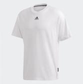 Adidas-3-STRIPES 男版白色短袖上衣-NO.GC9057