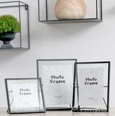 創意簡約黑色金屬玻璃相框畫框支架桌面畢業禮物igo ciyo黛雅