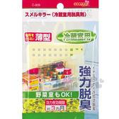 〔小禮堂〕日本不動化學 冰箱強力脫臭掛片《黃.薄型.冷藏用》活性碳除臭 4984324-00809