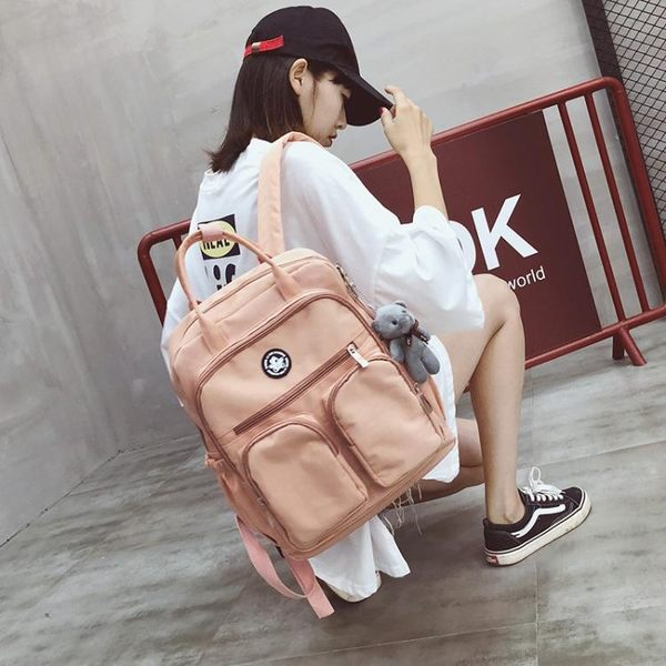 背包 ins超火的書包女學生韓版校園旅行背包旅游港風雙肩包女新款 歐歐流行館