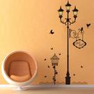 DIY可移動 時尚組合壁貼 居家裝飾牆壁貼紙 創意壁貼 夜晚小鳥路燈【YV0001】BO雜貨