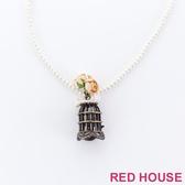 RED HOUSE-蕾赫斯-復古立體鳥籠珍珠項鍊
