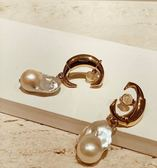 ■專櫃63折 ■Chloe C Darcy 巴洛克真淡水珍珠耳環