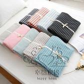 (雙12購物節)床罩 針織豎條雙人棉質床笠單件 親膚床墊套保護套床單棉質床罩