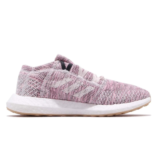 adidas 慢跑鞋 PureBOOST GO W 粉紅 白 編織鞋面 街頭路跑 女鞋 運動鞋【PUMP306】 B75824