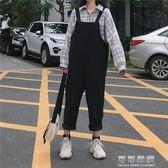 吊帶褲女韓國ulzzang寬鬆百搭工裝休閒褲長褲學生潮 可可鞋櫃
