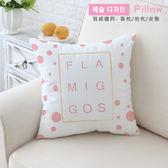 抱枕 床頭靠背 腰枕 午睡枕 汽車靠墊 沙發靠枕 簡約 生活 創意 韓系 絨布 粉色火鶴抱枕