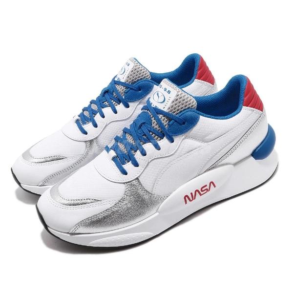 【六折特賣】Puma 休閒鞋 RS 9.8 x Space Agency 白 藍 男鞋 運動鞋 NASA 【PUMP306】 37250901