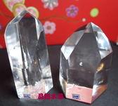 『晶鑽水晶』巴西天然白水晶柱72~82mm超白亮透!送禮物佳選95.96號*免運費