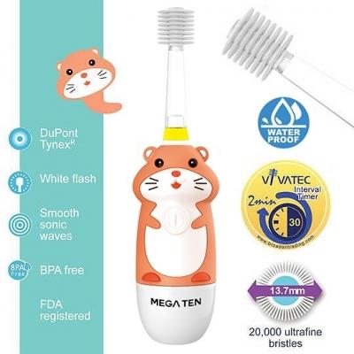 【愛吾兒】日本 Vivatec Mega Ten幼童電動牙刷-哈姆太郎
