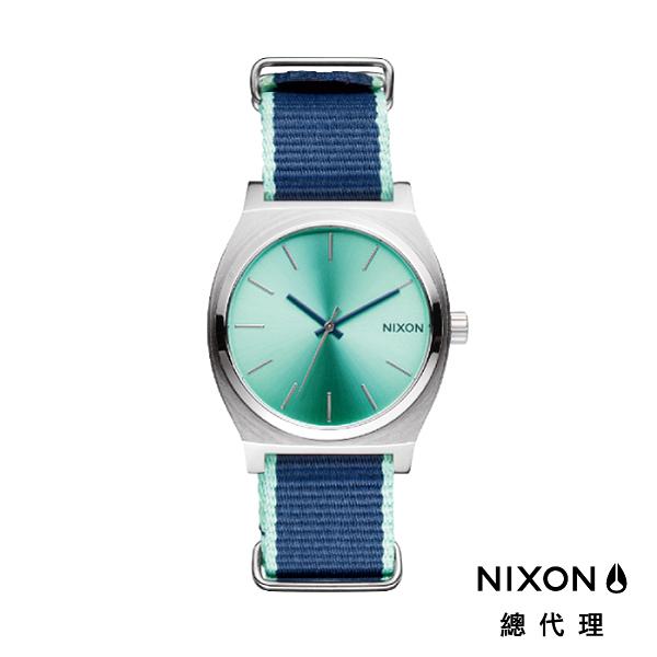 【官方旗艦店】NIXON TIME TELLER 極簡小錶款 帆布錶帶 薄荷 折射光錶盤 潮人裝備 潮人態度 禮物首選