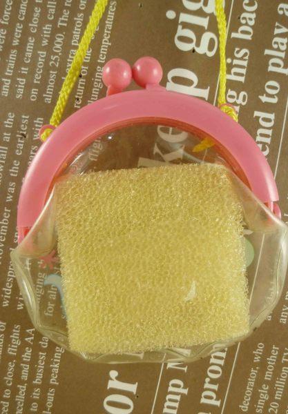 【震撼精品百貨】San-X動物家族_海豚~珠扣零錢包附繩-粉