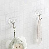 ♚MY COLOR♚透明無痕強力掛鉤(四入) 廚房 衛浴 懸掛 黏貼 壁掛 裝飾 收納 門背 櫥櫃【H40-1】