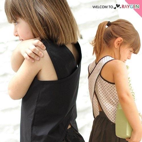 童裝 女童歐美風交叉式背心 T恤