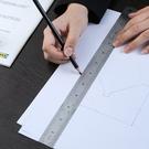 可掛式不銹鋼直尺(20cm) 刻度尺 雙面 直尺 短尺 測量 學生文具 多功能【P497】米菈生活館