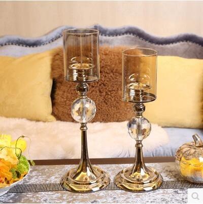 新古典歐式客廳樣板間家居裝飾品擺件 金屬燭台