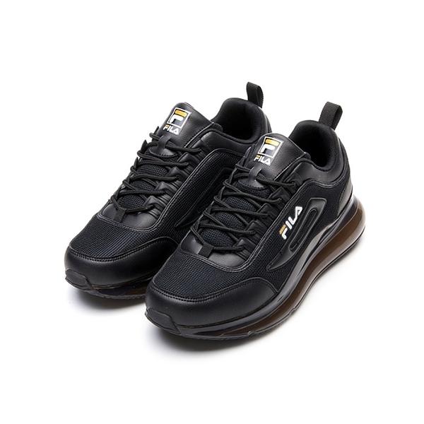 FILA BUBBLE POPUP 男款全黑氣墊慢跑鞋-NO.1J327V081