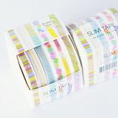 【BlueCat】SLIM手繪色鉛筆風格6色盒装紙膠帶