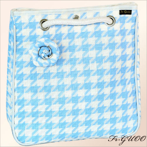 《家購網寢俱館》/法果輕時尚系列 – FRB508 編織菱格包(清新藍)