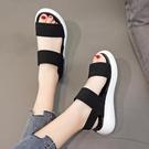 運動涼鞋女2021夏季新款厚底英倫外穿鞋ins潮仙女風百搭羅馬涼鞋 果果輕時尚