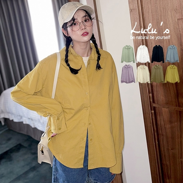 LULUS【A01201012】Y磨毛素面襯衫8色