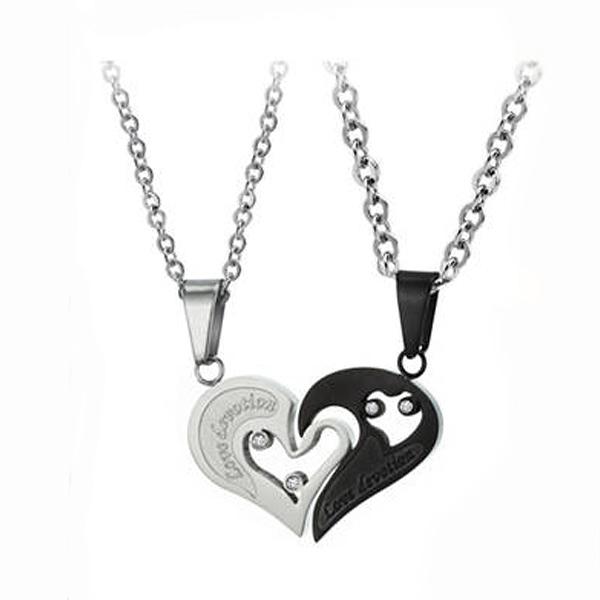 【5折超值價】 時尚首飾飾品純鋼鈦鋼情侶項鏈-1對優惠價