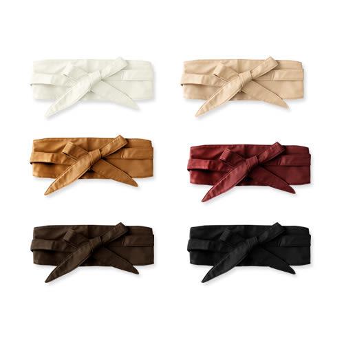 MIUSTAR 歐美街拍時尚必備綁結皮質腰封(共6色)【NE4051GW】預購