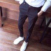 西裝褲    休閒褲修身小腳哈倫褲純色潮男簡約學生西裝褲潮   ciyo黛雅