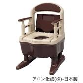 [預購] 移動馬桶 - 安壽 樹脂 易排泄 附蓋 老人用品 銀髮族 日本製 [T0818]