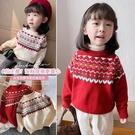韓韓良品2020秋冬新款女童兒童復古鉤花柔軟加厚針織毛衣 小山好物