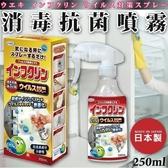 日本品牌【UYEKI】消毒抗菌噴霧 250ml
