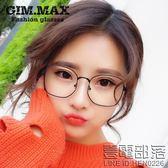 男女多邊形金屬眼鏡框 復古大框個性近視眼鏡架 裝飾平光鏡