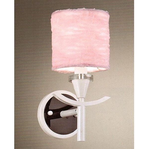 粉紅布罩金屬壁燈─高30深21寬13 cm─E14x1【雅典娜家飾】AAM283