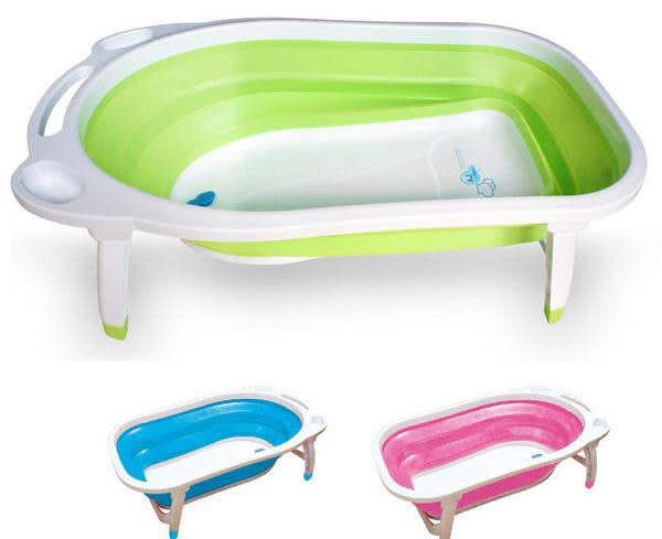 AJ 小河馬折疊式浴盆 (共3色)[衛立兒生活館]