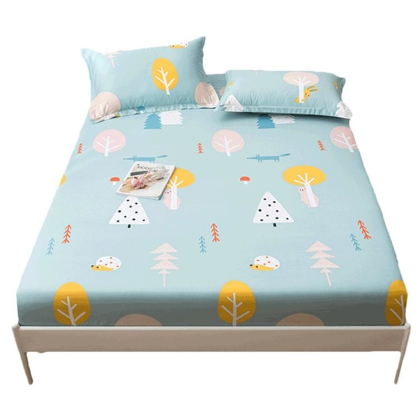 純棉床笠單件全棉床罩防塵罩床套罩夏季席夢思床墊保護套全包床單 幸福第一站
