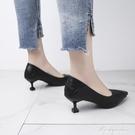 一鞋兩穿單鞋女2020春新款韓版百搭軟皮不磨腳低跟3cm細跟高跟鞋 黛尼時尚精品