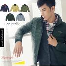 【大盤大】(D188) 男 女 輕量羽絨外套 墨綠 羽絨衣 夾克 保暖外套 防風 立領夾克 輕薄 有大尺碼