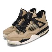 Nike Wmns Air Jordan 4 Retro Mushroom 卡奇 黑 四代 女鞋 運動鞋【PUMP306】 AQ9129-200