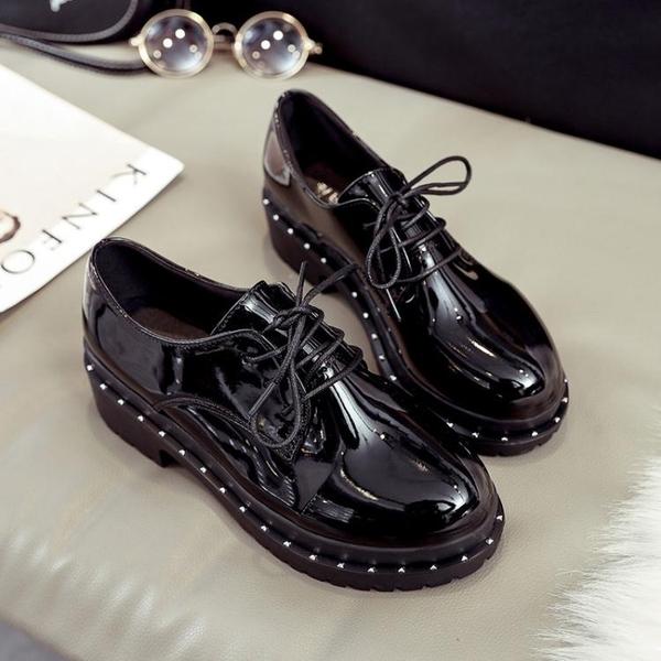 鬆糕皮鞋小皮鞋女復古松糕鞋厚底學生韓版高跟單鞋粗跟女鞋潮 雲朵走走