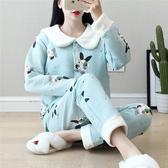 月子服秋冬産後純棉孕婦睡衣春秋季空氣棉保暖哺乳衣産婦喂奶套裝