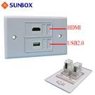 HDMI USB 面板插座 (WP-HU2L) - SUNBOX