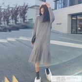 中長款毛衣女秋冬百搭套頭學院風內搭針織衫過膝打底裙 韓慕精品
